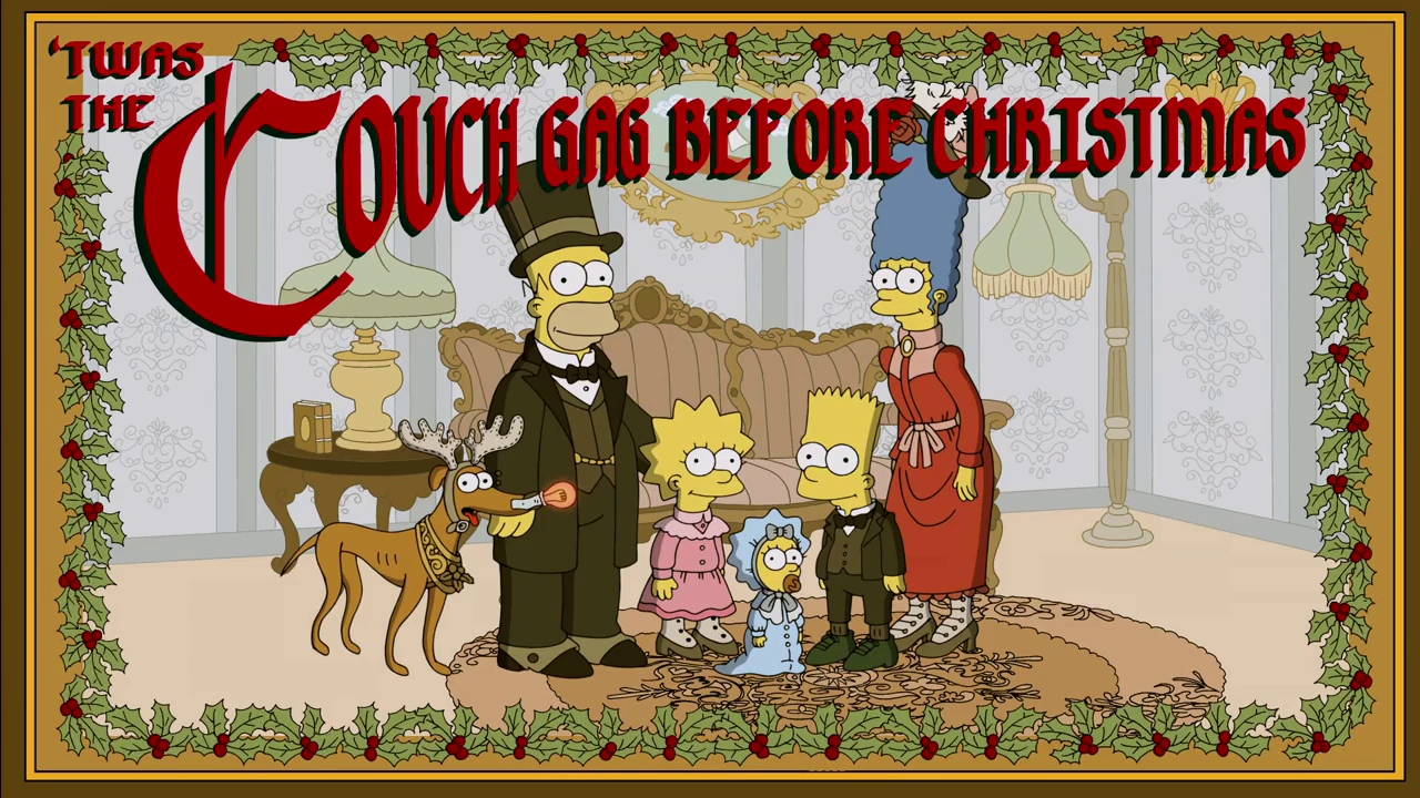 Before Christmas couch gag