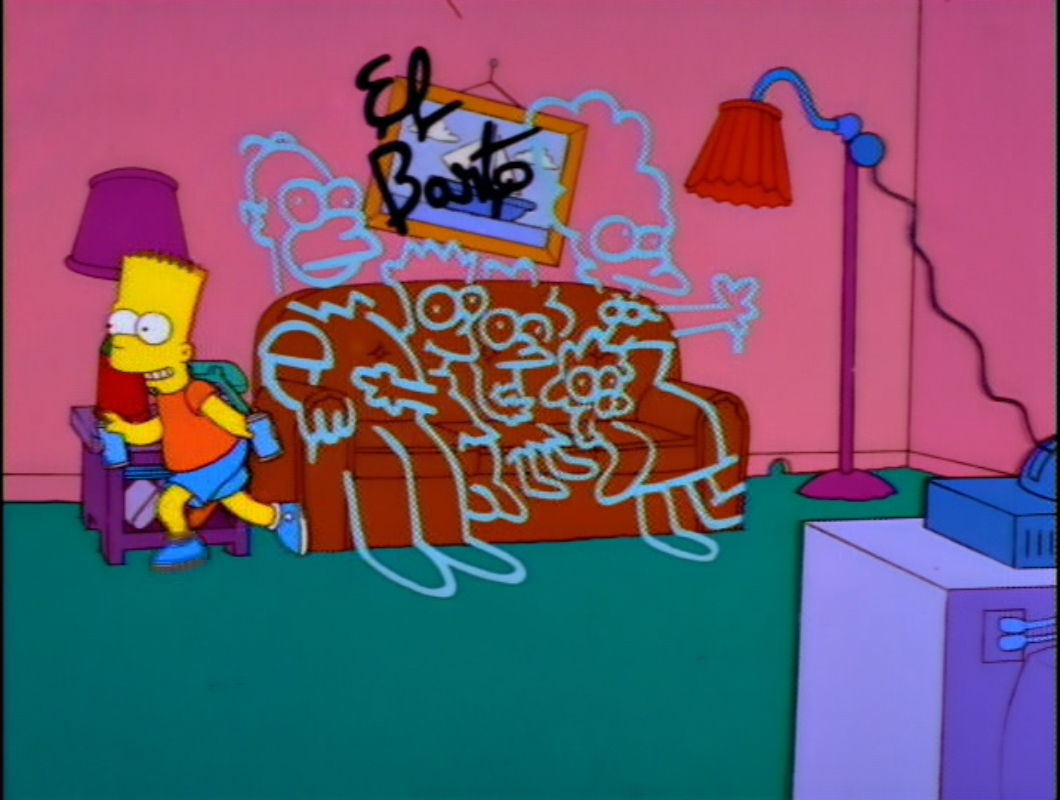 Spray Paint couch gag