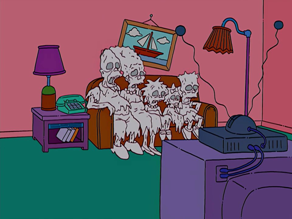 Decaying Family couch gag