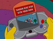Gameboy bike mommy