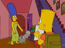 Bart papel alistamento marge susto