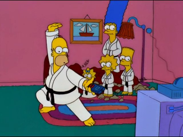 Karate couch gag