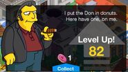Fat Tony Tapped Out Level Up Screen 2