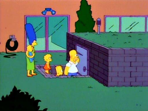 Flanders family's bomb shelter