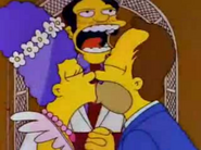 Homer's and Marge's Wedding in I Married Marge