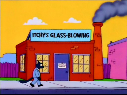 Itchy's Glass-Blowing