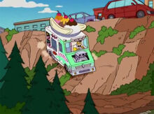 Homer furgão sorvetes offroad