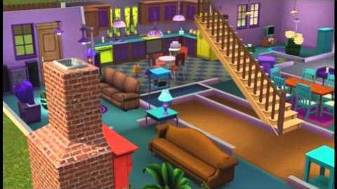 Casa dos Simpsons criada no The Sims 3