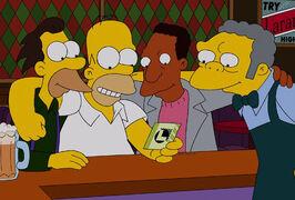 Homer z przyjaciółmi