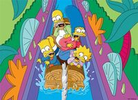 Itchy and Scratchy Land Logride poster