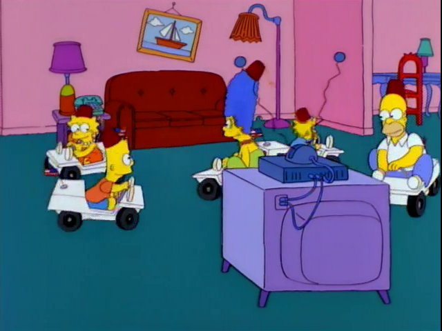 Go-Karts couch gag