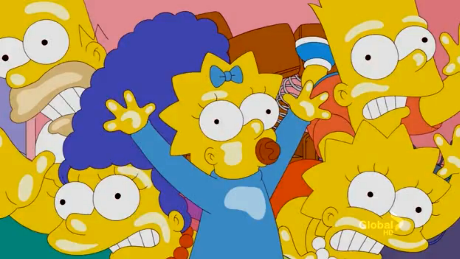 Springboard couch gag