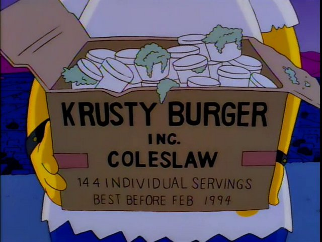 Krusty Burger Inc. Coleslaw