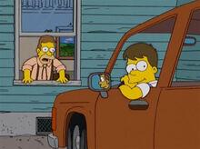 Homer criança pega o carro