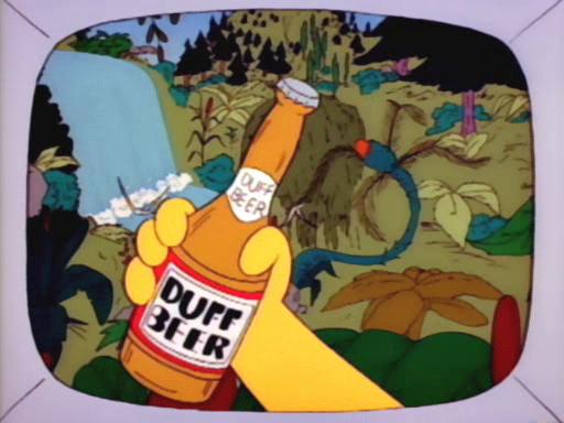 Annoceur bière Duff