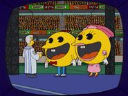 HomerAndNed'sHailMaryPass-SBXVIHalftimeShow-PacManWedding