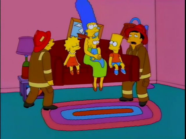 Firemen couch gag