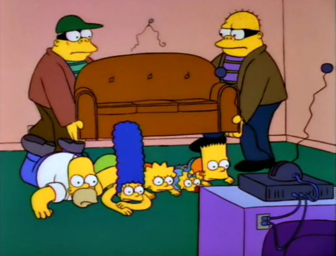 Robbed Couch couch gag