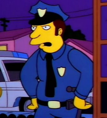 Police Officer (Marge in Chains)