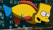 Bart as a normal fish