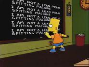 Bart Sells His Soul Chalkboard Gag
