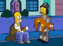 Homer xicara bombeiro ajudante