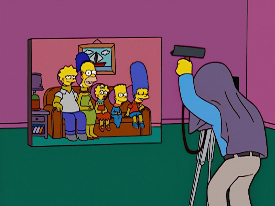 Cutout couch gag