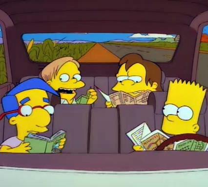 Bart pega a estrada