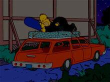 Simpsons sexo carro placa 18x18