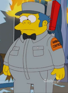 Clancy Wiggum young working in Animal Control
