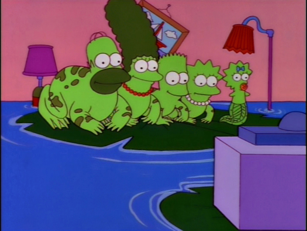 Frog Family couch gag