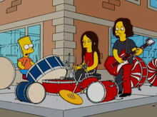 Bart acidente white stripes