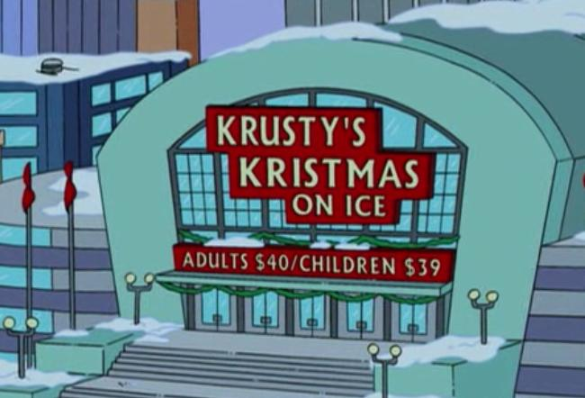 Krusty's Kristmas On Ice
