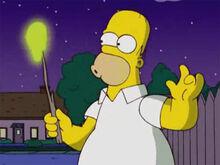 Homer marshmallow espacial