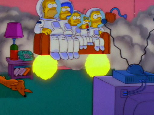 Rocket couch gag