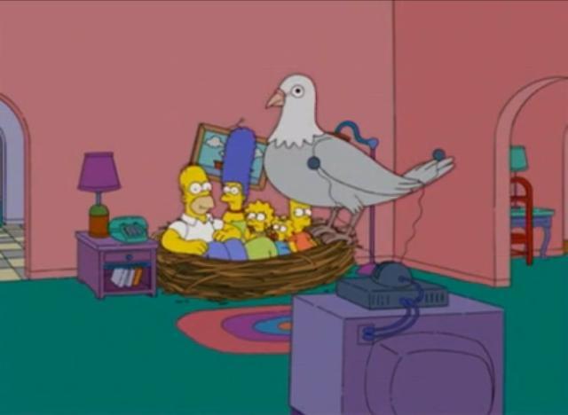 Bird's Nest couch gag
