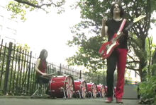 White stripes videoclip real