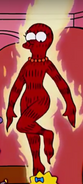 Marge as the Human Torch