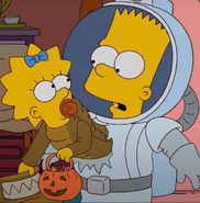 Astronaut Bart with Maggie