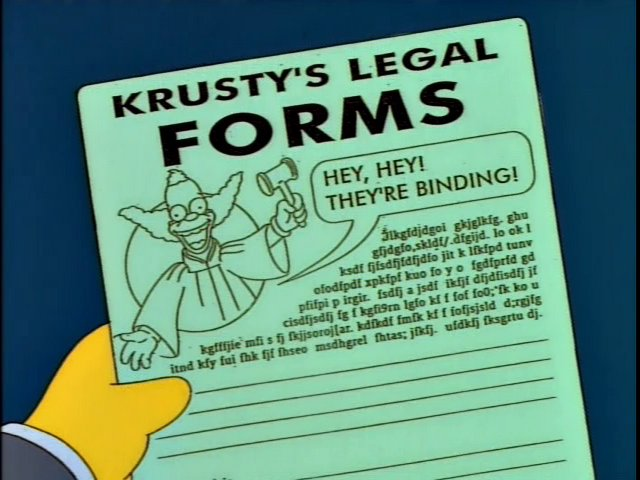 Krusty's Legal Forms