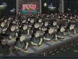 Banksy Simpsons Sweatshop couch gag