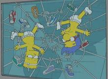 Bart milhouse cadarços vitrine