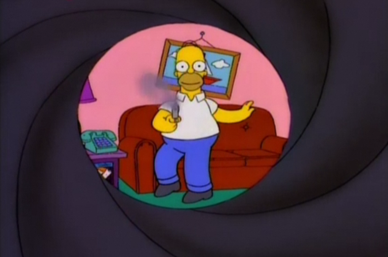 James Bond couch gag