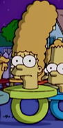 Marge as pacifier