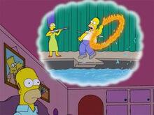 Homer pensa marge golfinho