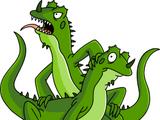 Cricrizinho & Bart Junior (lagartos)