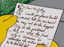 Marge carta snoopy