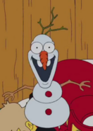 The Simpsons Olaf from Frozen