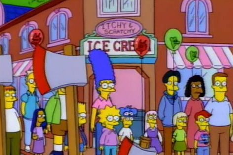 Itchy & Scratchy Ice Cream
