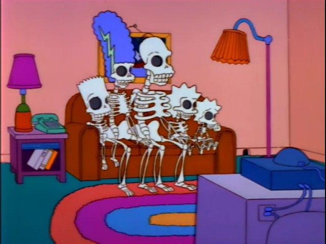 Skeleton Family couch gag